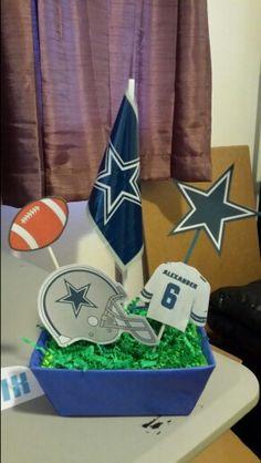 Dallas Cowboys Themed Centerpieces