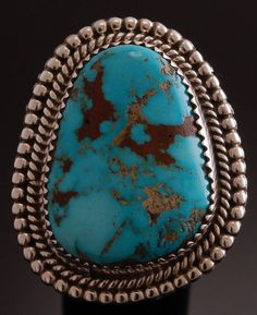 Size 6-3/4 ~ Smokey Valley Turquoise Silver Ring by Val Tsosie - TO81U | Jewelry & Watches, Ethnic, Regional & Tribal, Native American | eBay!