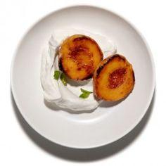 Peach Melba with Burnt Caramel Sauce Recipe - Bon Appétit