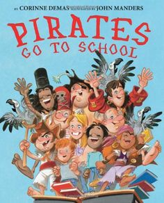 "A funny rhyming story about the silly things pirates do when they go to school. Pirates and their parrots go to school, and it's time to hang up their swords and have fun. They learn reading and math, and they bring pirate treasure for show-and-tell. For pirates, going to school is as much fun as a game of ""walk the plank""!"