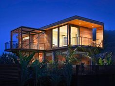 Modern Tropical House Design Plans Modern House Design in Philippines, modern beach houses . Modern Tropical House, Tropical House Design, Tropical Houses, Style At Home, Modern House Plans, Modern House Design, Shotgun House Plans, Small Prefab Homes, Prefab Home Kits