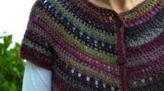 Crochet cardigan free pattern http://milobo.wordpress.com/2007/12/16/eyelet-yoke-crochet-cardigan-tutorial/