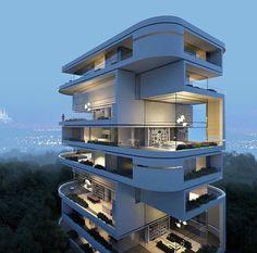 "killerhouses: "" Köln Rhodenkirchen Luxury Residence Building 1. Preis by Hadi Teherani #germany… """