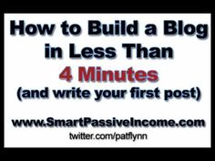 How to Build a Blog in Less than 4 Minutes and Write Your First Blog Post - YouTube