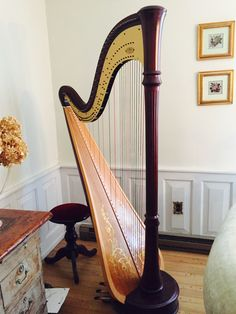 Lyon & Healy 85 CG Extended Soundboard - Silver Spring - Maryland - United States - Pedal Harps For Sale - Show Ad Harp Column