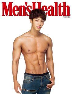 韓国雑誌 Men's Health(メンズヘルス) 2015年3月号 BEASTイ・ギグァン表紙!本誌折込付録イ・ギグァンブロマイド付