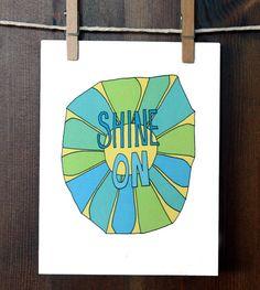 greeting card  shine on by wanderandroar on Etsy, $4.00