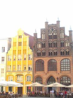 Historische Altstadthäuser in Stralsund
