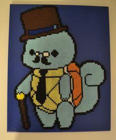 Gentlemon Squirtle Bead Sprite on Canvas