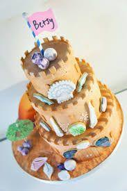 Image result for sandcastle cake