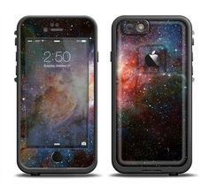 The Mulitcolored Space Explosion Apple iPhone 6/6s Plus LifeProof Fre Case Skin Set from DesignSkinz