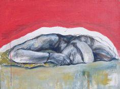 Spící marie; olej na plátně; 2016