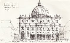 Croquis - Basilica de San Pedro - por Facundo Alvarez