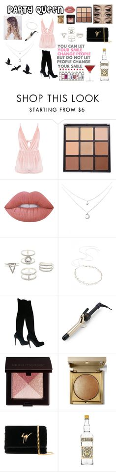 """Untitled #42"" by heartyrose ❤ liked on Polyvore featuring Morphe, Lime Crime, Charlotte Russe, Brides & Hairpins, Christian Louboutin, Hot Tools, Laura Mercier, Stila and Giuseppe Zanotti"