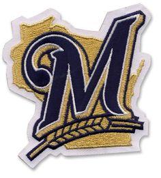 Milwaukee Brewers M MLB Baseball Team Logo Patch