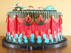 Brilliant side view of this cake! Themed Birthday Cakes, Themed Cakes, Mardi Gras, Broadway Party, Cupcake Cakes, Cupcakes, Cake Designs, Cake Pops, Truffles