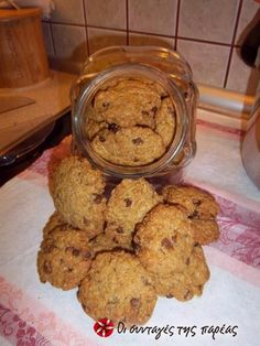Cookies με κουάκερ #sintagespareas #cookies #quaker Cookie Recipes, Snack Recipes, Healthy Recipes, Snacks, Biscotti, Sweet Recipes, Cookies, Muffin, Gluten Free