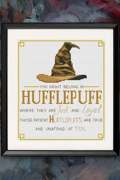 Your place to buy and sell all things handmade Modern Cross Stitch Patterns, Counted Cross Stitch Patterns, Cross Stitch Embroidery, Embroidery Patterns, Cross Stitch Bookmarks, Cross Stitch Kits, Harry Potter Cross Stitch Pattern, Sorting Hat, Cross Stitching