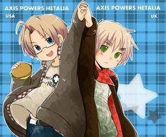 Hetalia UsUk, Chibi America and England!