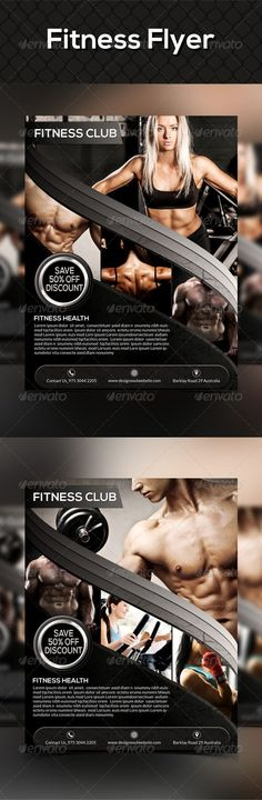 Fitness Flyer Template - Sports Events Fitness Flyer   Print - fitness flyer template