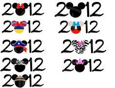 2012 Minnie Printable DIY Family Trip vacation Transfer Mickey Minnie Disney U pick design. $5.00, via Etsy.