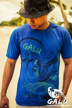 Janet's - Galu T-Shirt - OctoRay Navy, 29.90 AUD (http://www.janetssamoa.com/galu-t-shirt-octoray-navy/) GALU Samoa presents OCTORAY NAVY. The Octopus (fe'e) and the Stingray (Fai) were revered in Samoan Mythology and the Octopus was even held in legend to have brought about the creation of the Samoan Islands. This designs depicts the two creatures dancing in union in the Pacific Waters.