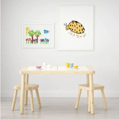 Sensory Table: The internet is full of sensory bin ideas that can be used indoors and out, and the FLISAT provides a compact, child-sized space to explore materials. Kids Craft Tables, Kid Table, Toddler Table And Chairs, Baby Laden, Chaise Ikea, Table Chaise, Table Ikea, Playroom Table, Playroom Furniture