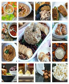 42 New Year's Eve Appetizers  Dips, finger foods, spreads, everything you need to serve fabulous food at your party!
