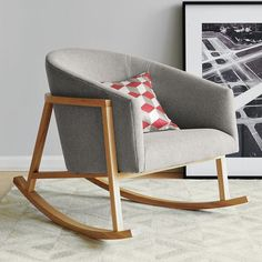 I really want a rocking chair in the living room.  And I want this one in particular, though I would probably stain the legs.