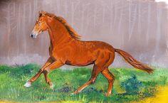 Roshni  Beautiful Marwari horse Acrylics, 24x34 cm For sale