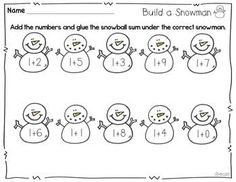 build a snowman {printables for winter}