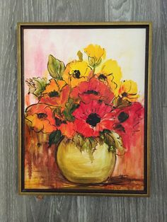 Poppy Painting Floral Painting Original Painting by Comforte