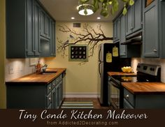 love, love this kitchen    Cabinet color: Hallowed Hush by Behr (Home Depot), color matched in Kelly Moore interior oil-based paint in a satin finish,  Wall color: Rich Cream by Behr,