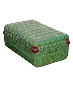 Take a look at this Green Vintage 1950s Iron Traveler's Storage Trunk on zulily today!
