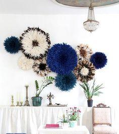 Les bleus Diy Wall Decor, Boho Decor, Juju Hat, Statement Wall, Diy Hat, Paint Furniture, Next At Home, Home Staging, Decoration