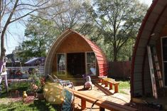 Once You See What's Inside Of This Arched Cabin, You'll Wish You Owned One!
