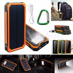 20000mAh Portable Waterproof Solar Charger Dual USB External Battery Power Bank #UnbrandedGeneric