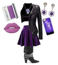 """""""Raven Queen Inspired"""" by exotics-benita-hunhan on Polyvore featuring Boohoo, self-portrait, Casetify, Bling Jewelry, Katherine Jetter, Clinique and Lime Crime"""
