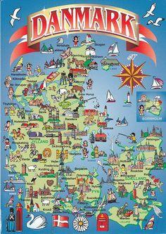 Postkort over Danmark