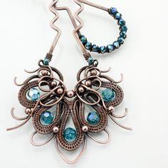 Peacock Hairfork by Sarah Thompson