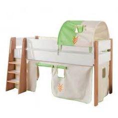Kinderbett dschungel  Halbhohes Kinderbett im Vorhang im Dschungel Design online kaufen ...
