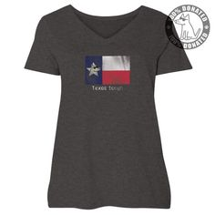 Texas Tough - Ladies Curvy V-Neck Tee