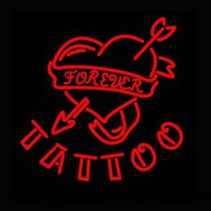 Forever Tattoo Neon Sign Real Neon Light