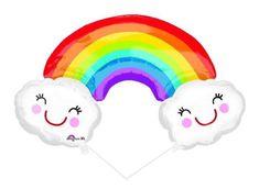 Rainbow&Clouds SuperShape Balloon