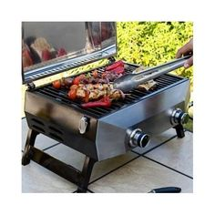 BBQ Table Top New Grill Burner Stainless Cooking Oven Gas Outdoor Garden Storage