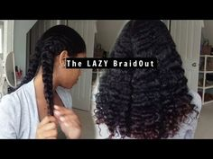 The Lazy Braid Out | ft As I Am Naturally - YouTube