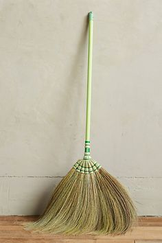 Bamboo Fan Brush | anthro | This is so beautiful. Children would WANT to sweep. Don't you think?