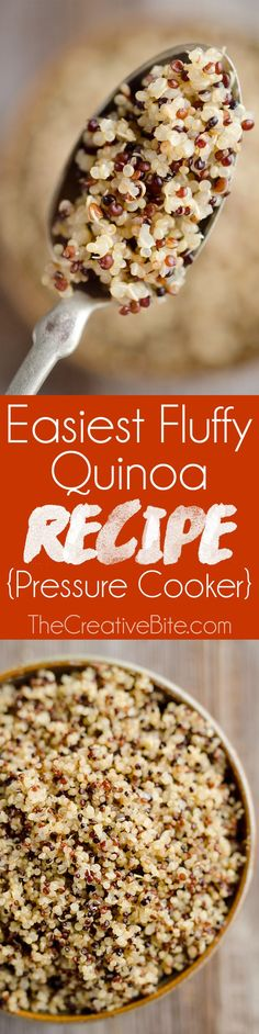 This is the Easiest Fluffy Quinoa Recipe you will make with the help of your Pressure Cooker. Set it and forget it for the best quinoa made in your Instant Pot in just 20 minutes. #PressureCooker #InstantPot #Quinoa