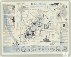 Vintage map of Lake Monroe, Indiana
