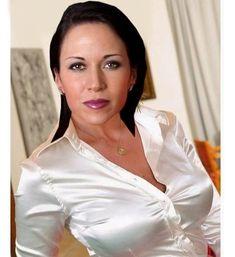 White Satin Blouse, Satin Blouses, Silk Satin, Sexy Blouse, Blouse And Skirt, Satin Skirt, Satin Dresses, Sexy Older Women, Sexy Women